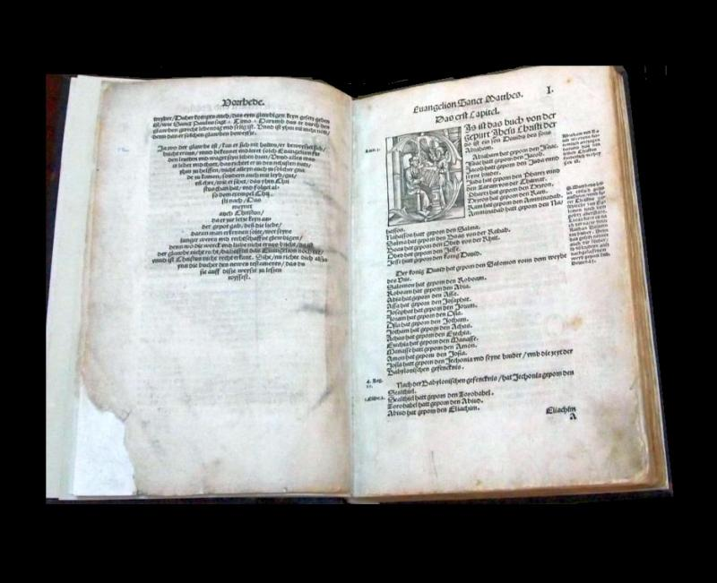Rare Luther Early Edition Bible