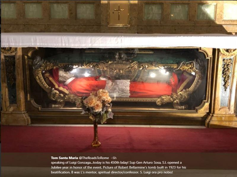 Picture of Robert Bellarmine's tomb