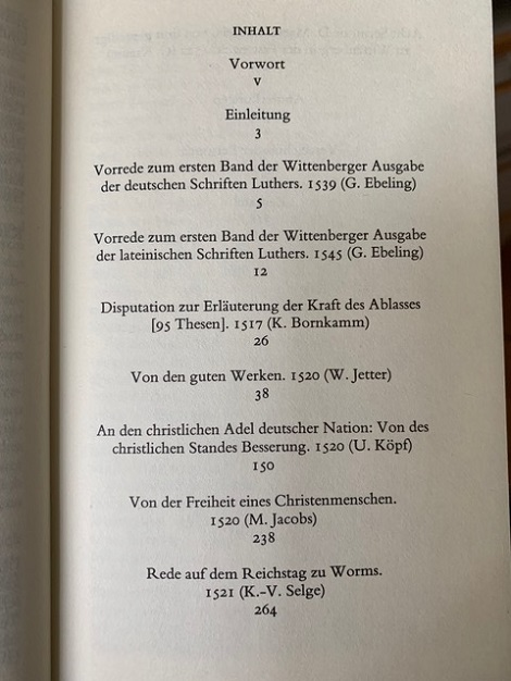 Page of Luther in German
