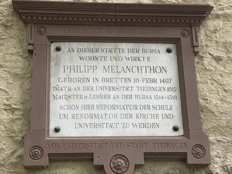 Philipp Melanchthon Plaque.