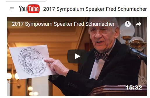 Rev. Dr. Fred Schumacher's Video at Symposium 2017