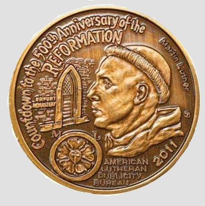 medal-500 countdown to the reformation bronze coin